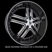 VENICE ROSSO 24X9+30 6X135+139.7 C.B-87.1 BML(BLACK+MACHINE+BLACK LIP+MACHINE LINE)